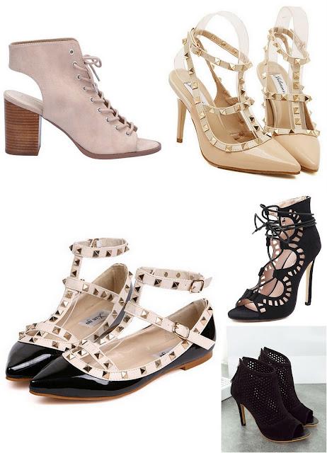 sznurowane szpilki, modne buty wiosna , wysokie szpilki, balerinki wiązana