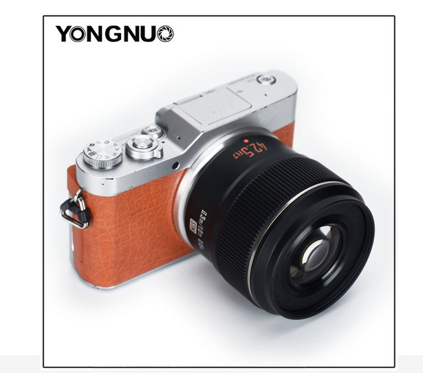 Объектив Yongnuo YN 42.5mm f/1.7M II с камерой Panasonic Lumix