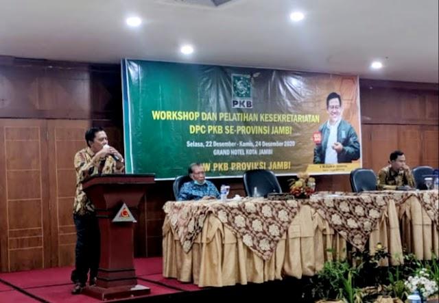 DPW PKB Jambi Gelar Worksop dan Pelatihan Kesekretariatan
