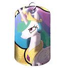 My Little Pony Princess Celestia Series 1 Dog Tag