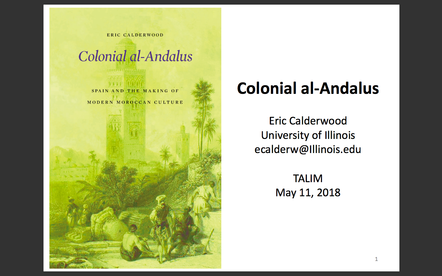 Maghrib in Past & Present | Podcasts: Colonial Andalus