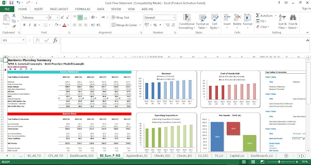 Cash Flow Statement Template in Excel