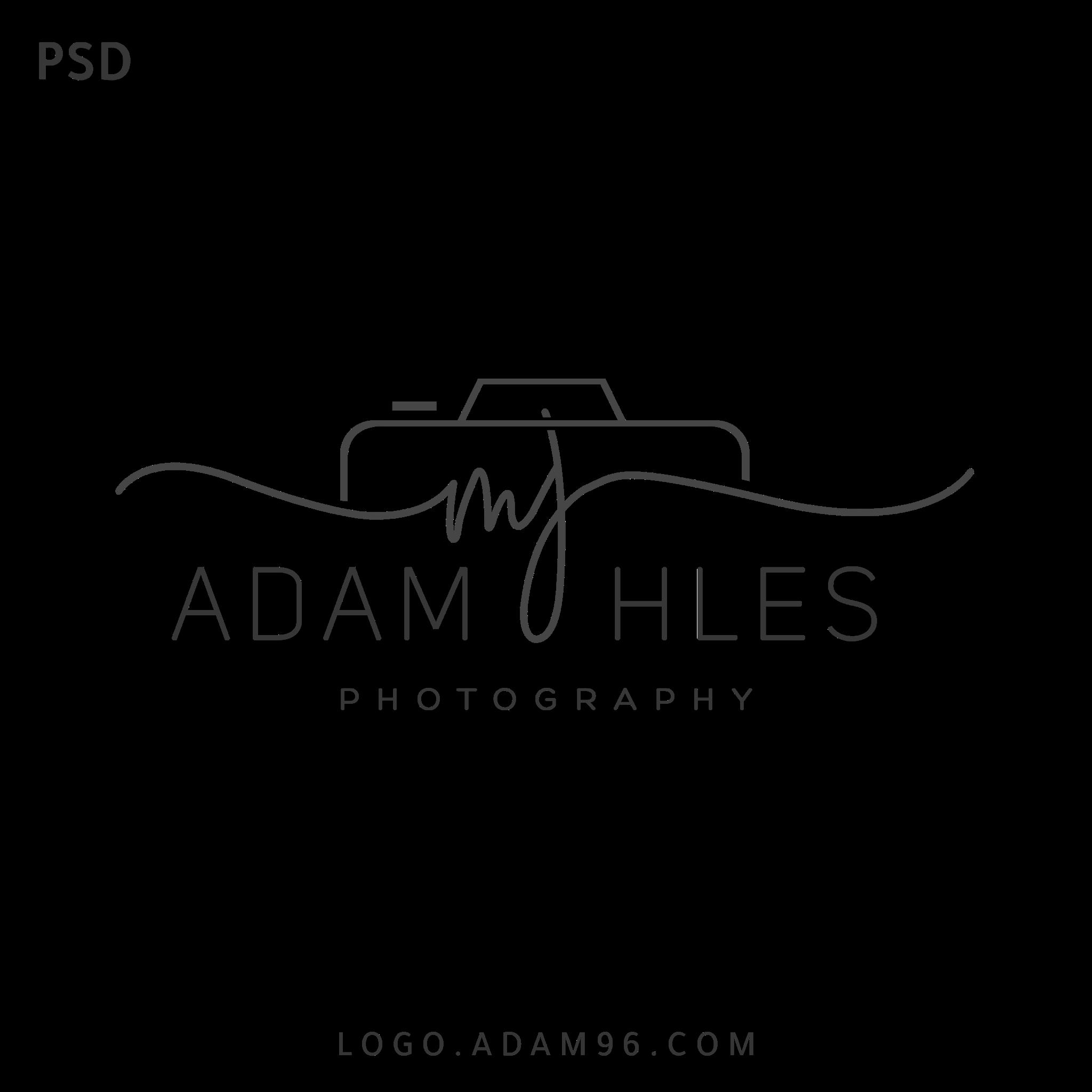 تحميل شعار احترافي للمصورين بلا حقوق لوجو مصور بصيغة PSD
