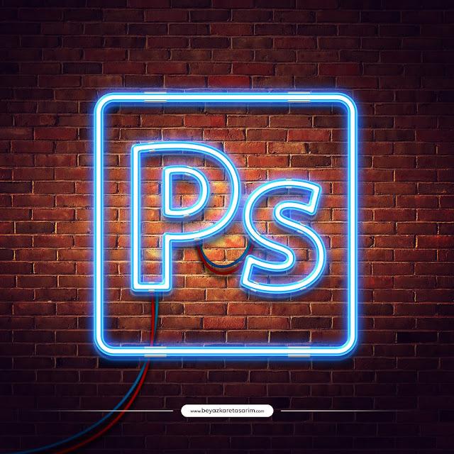 3D logo tasarımı retro neon