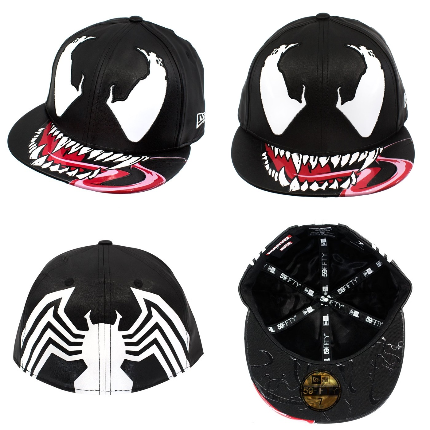 05b90d2f2f018 Super Hero Stuff Exclusive Venom Character Armor 59Fifty Fitted Hat by New  Era Cap x Marvel