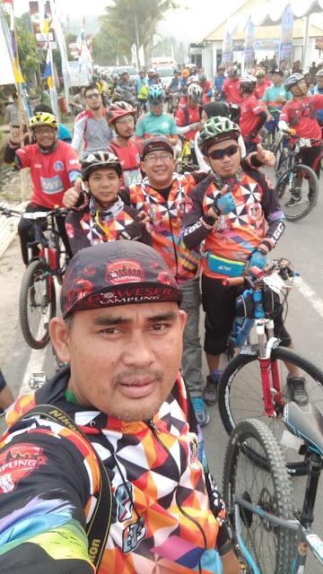 Komunitas Goweser Liwa Ikuti Sriwijaya Ranau Gran Fondo 2019
