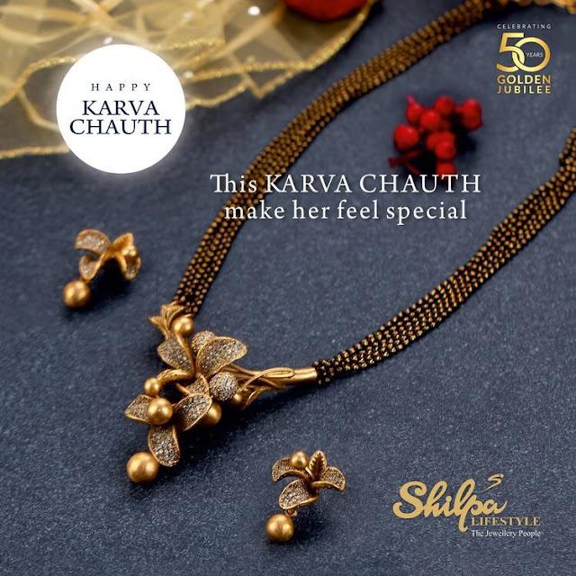 Black Beads Set with Diamond Flower Locket