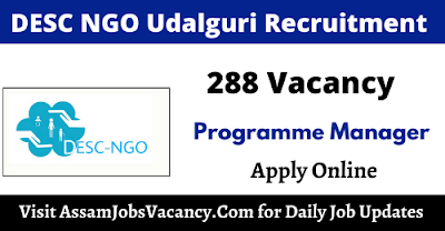 DESC NGO Udalguri Recruitment 2021