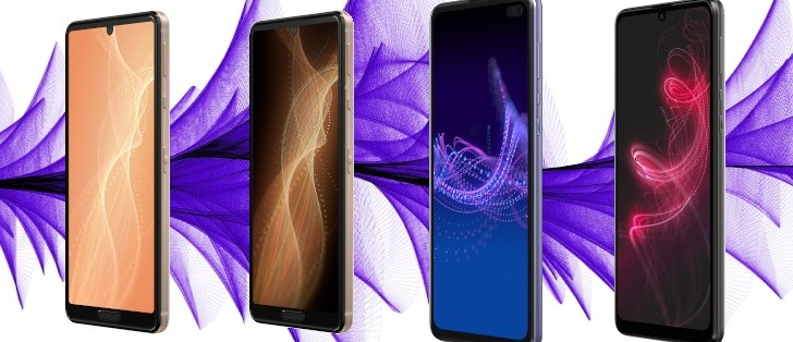 Sharp launched four new smartphones, two of which are equipped with 5G technology