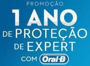 Cadastrar Promoção Oral-B Proteção Expert - 1 Ano Produtos Oral-B