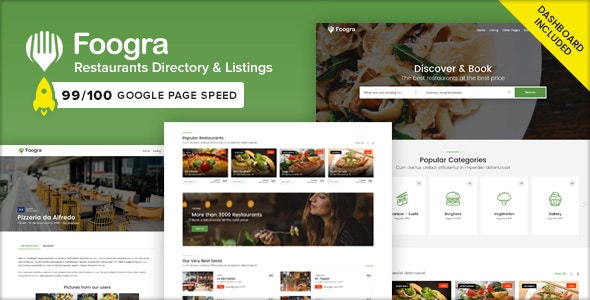 Premium Restaurants Directory & Listings Template