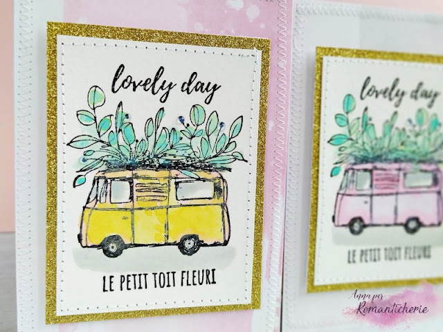 "[Cardmaking] Card set con furgoncino ""Le petit toit fleuri"" - VIDEO"