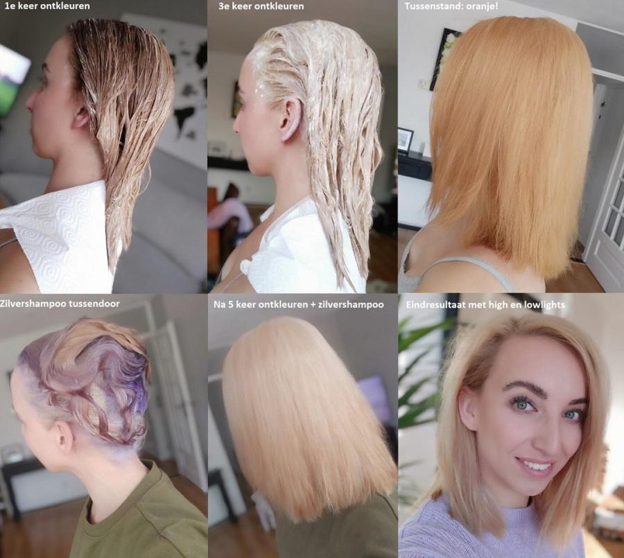 Van bruin naar blond