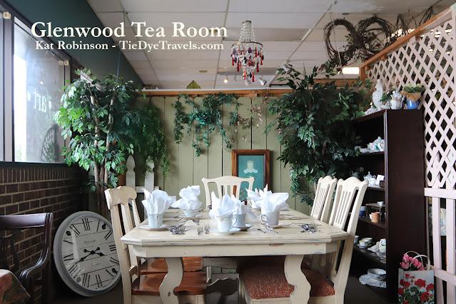 A table at Glenwood Tea Room in Shreveport