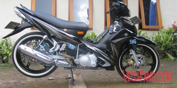 Modifikasi Jupiter Z New Hitam Modif Simple Ban Classic