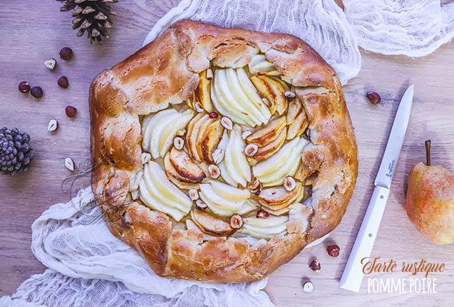 tarte rustique pomme poire