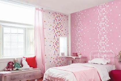 dekorasi kamar minimalis warna pink