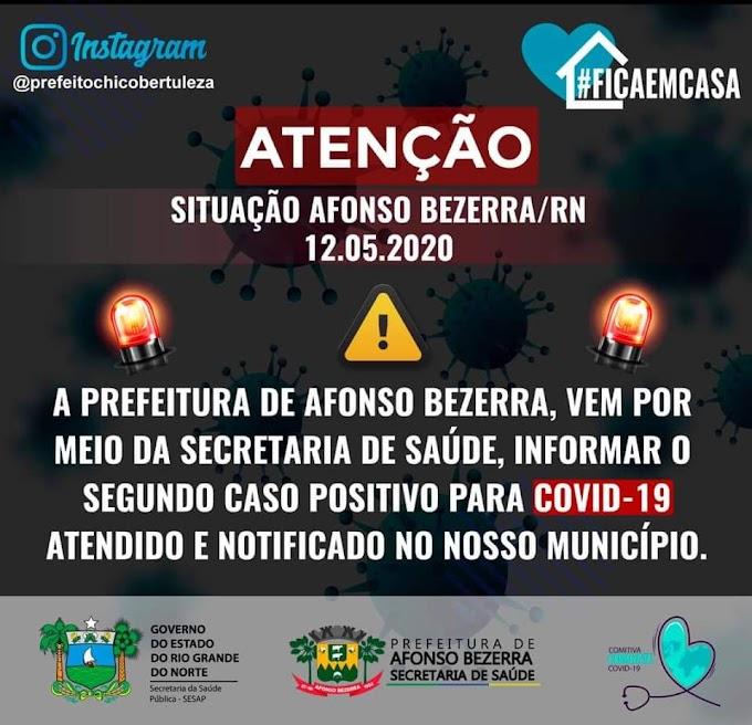 Afonso Bezerra tem segundo caso confirmado de coronavírus na cidade