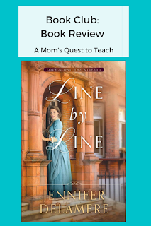 text: Book Club: Book Review; image of Line by Line book cover