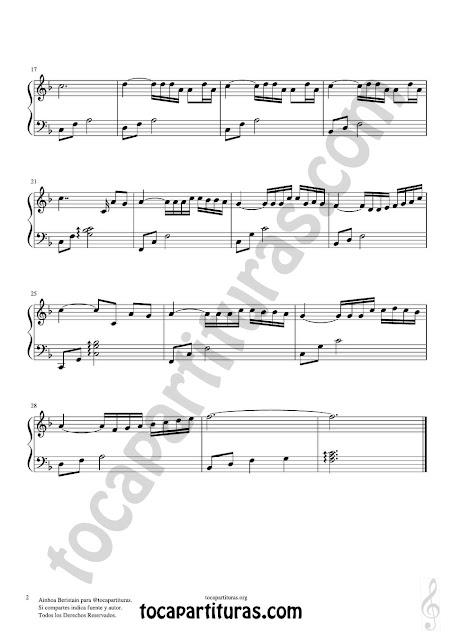 2  Partitura de Lágrimas en el Mar para Piano Principiantes e JPG gratis para descargar. Download Easy Sheet Music for Piano Tears in the sea