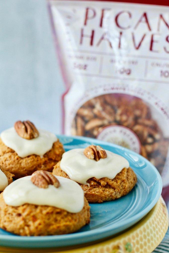 Sweet Potato Pecan Cookies with Pecan Product
