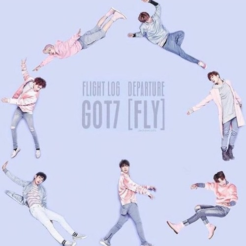 Got7 fly sticker k-pop flies png download 743*1076 free.