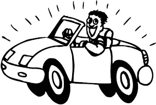 Driving coloring pages ~ Driving car happy coloring pages >> Disney Coloring Pages