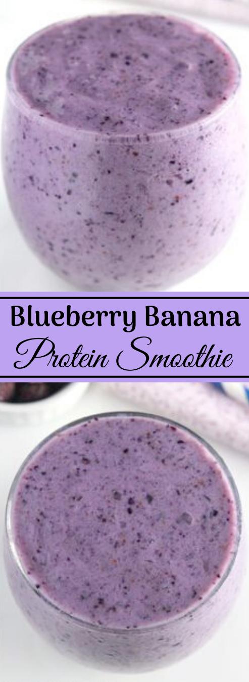 Blueberry Banana Protein Smoothie #drink #smoothie #banana #sangria #easy