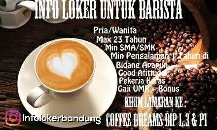 Lowongan Kerja Coffee Dreams BIP Oktober 2017