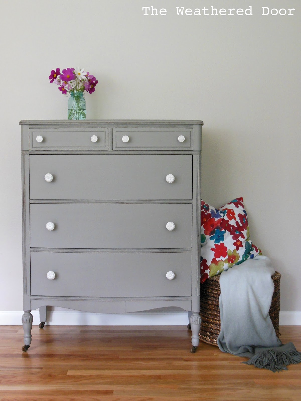 Grey Painted Chairs White Table And Set Uk A Distressed Elephant Dresser With Knobs The