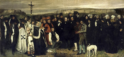 Realism art by Gustave Courbet, A Burial At Ornans