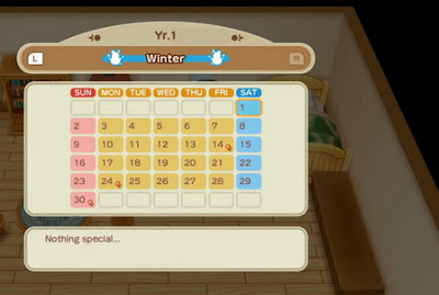 Calendar of Events - Story of Seasons Friends of Mineral Town
