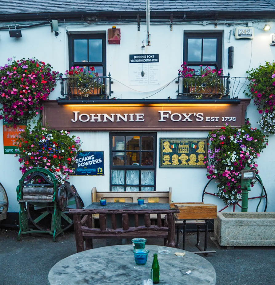 Johnnie Fox's pub exterior