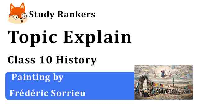 Painting by Frederic Sorrieu - Chapter 1 The Rise of Nationalism in Europe Class 10 History