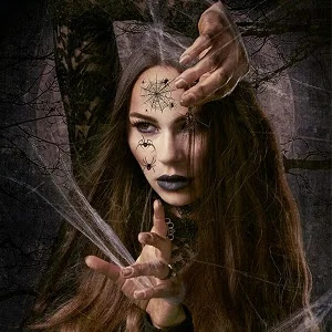 Halloween Spider Face Tattoos for Women,