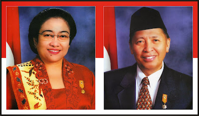 Gambar Presiden Megawati Soekarno Putri dan Hamzah Haz