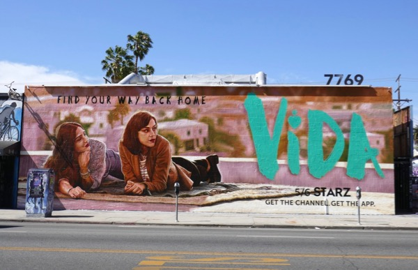 Vida Starz series wall mural ad