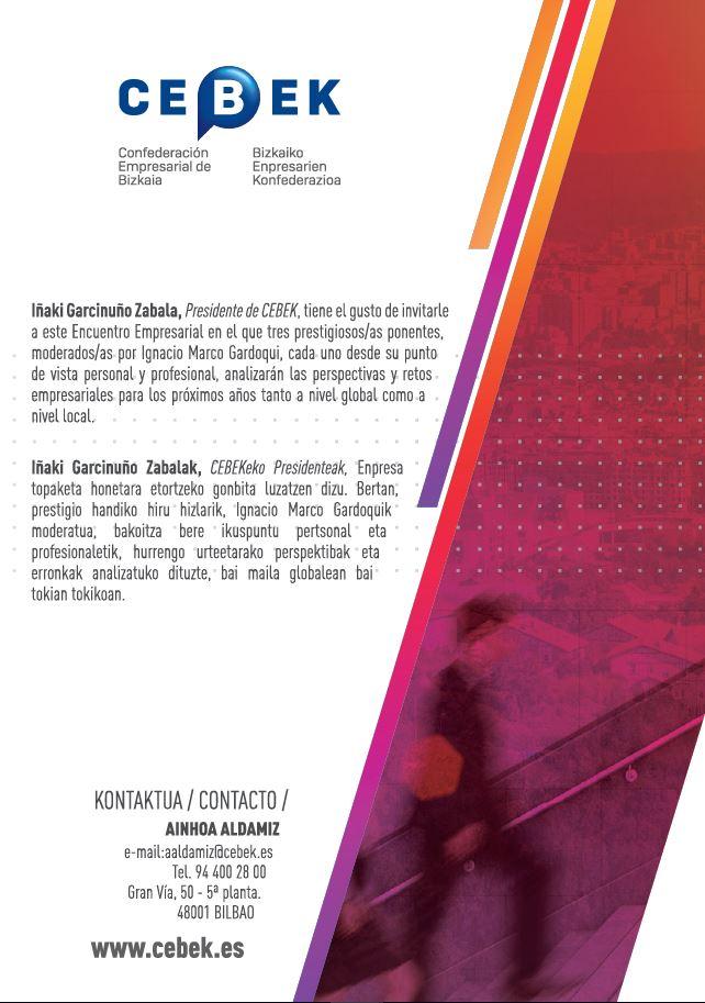 CEBEK Asamblea General 2018 Euskalduna Bilbao Confederación Empresarial de Bizkaia Encuentro Empresarial