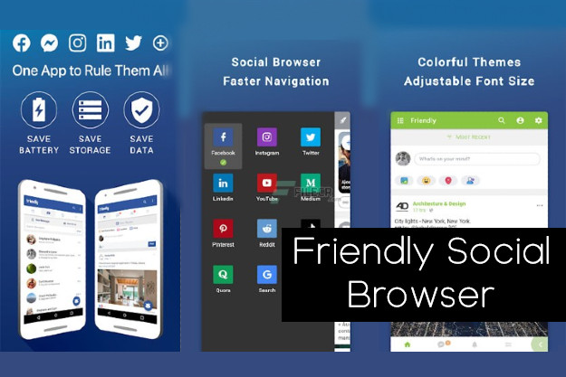 Friendly Social Browser - Facebook, Instagram, YouTube κ.α. σε μία απίστευτη εφαρμογή