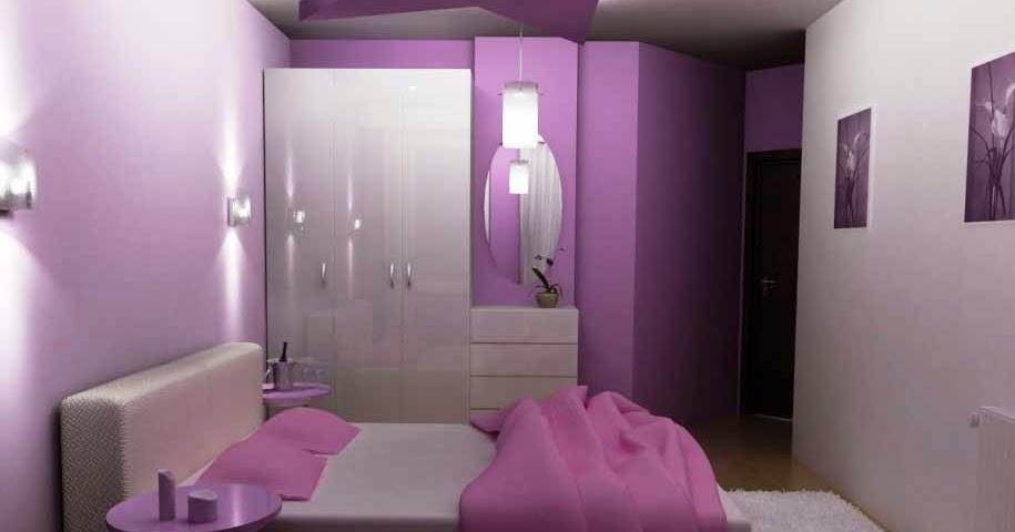 Desain Kamar Tidur Ungu Pribadi  Desain Rumah  Rumah