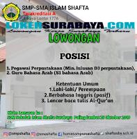 Lowongan Kerja di Sekolah Islam Shafta Surabaya Terbaru Oktober 2019