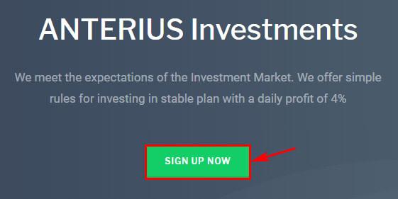 Регистрация в Anterius LTD