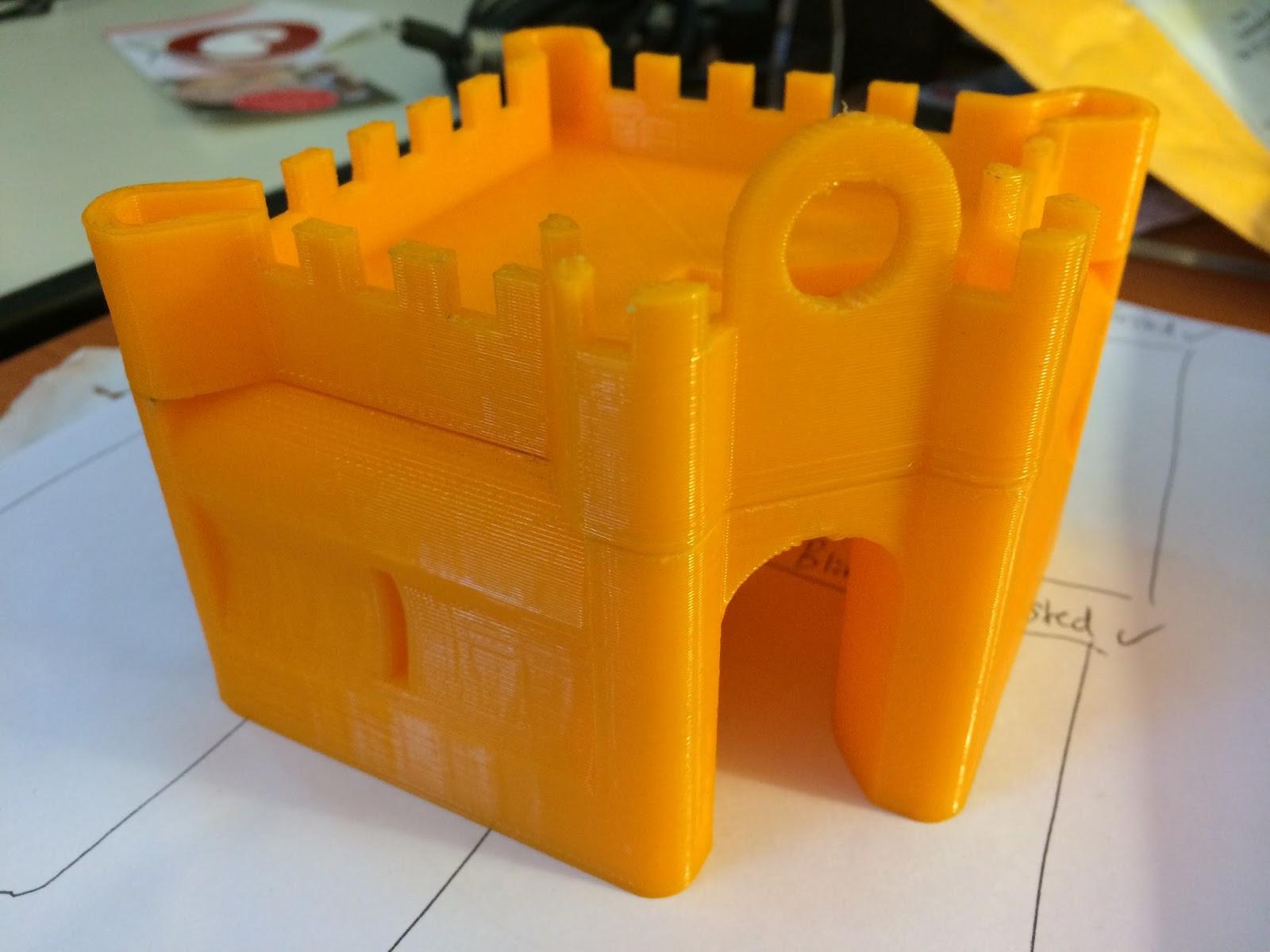 hamster castle 3d print result