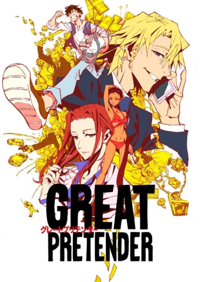 """GREAT PRETENDER Anime"" Key Poster"