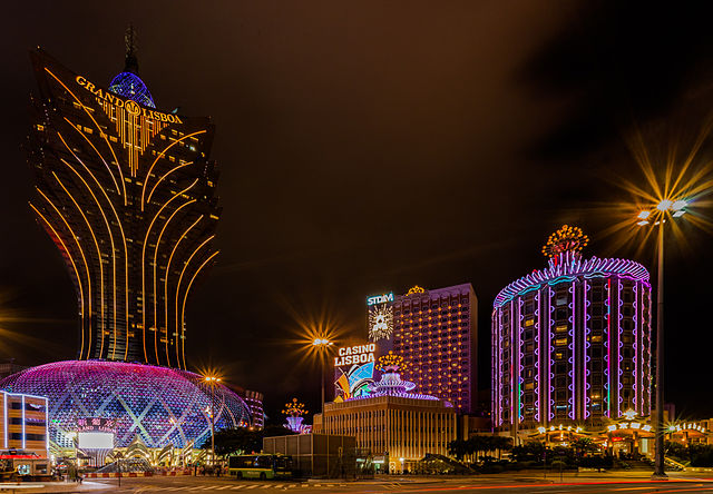 Casinos of Macau at Night time