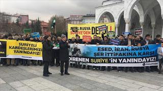 تركيا..وقفة تضامنية مع الشعب السوري في إدلب