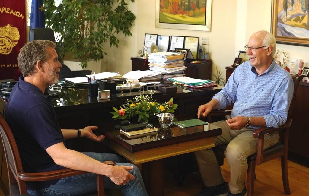 Συνάντηση Απ. Καλογιάννη με τον Παύλο Γερουλάνο