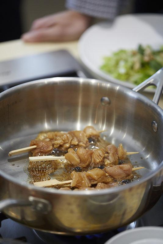 Brochettes de poulet à l'asiatique (cuisson)