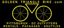 Pittsburgh to DC bike outfitter, bicycle rental, packages and shuttles