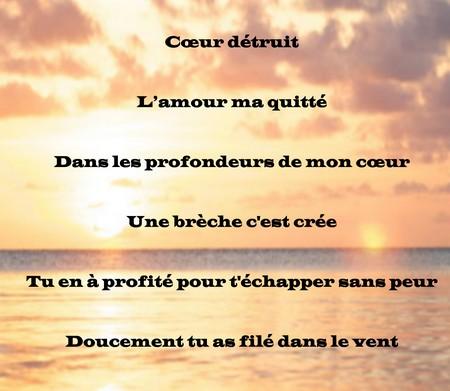 Connu Poème triste d'amour perdu ~ Messages et Textes d'amour HR82